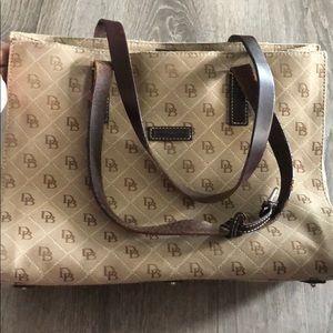 Dooney and Bourke distressed shoulder purse
